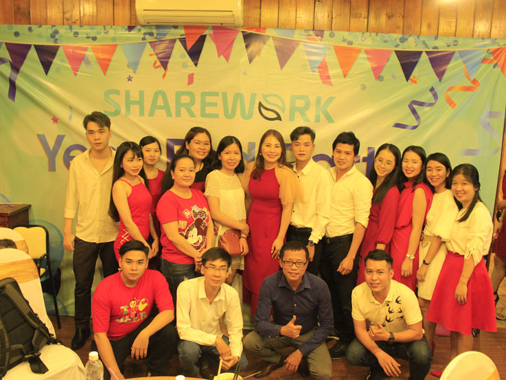 SHAREWORK ORGANIZED YEAR END PARTY FOR ALL STAFFS