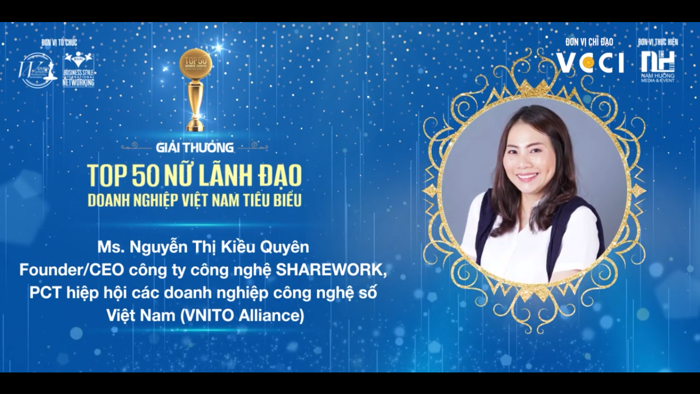 """Female Pioneer in Computer Science"" Quyen Nguyen has been honored with the Top 50 Typical Vietnamese Business Leaders in 2020"